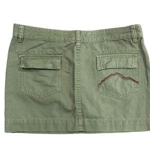 Burton Army Green Mini Skirt Size 7